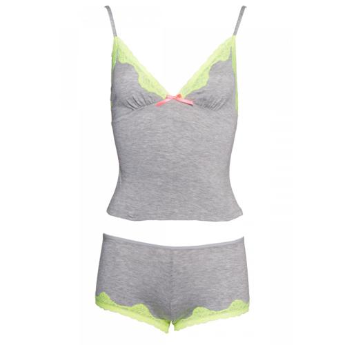 Seraphina Pyjama setje - Grijs/Geel