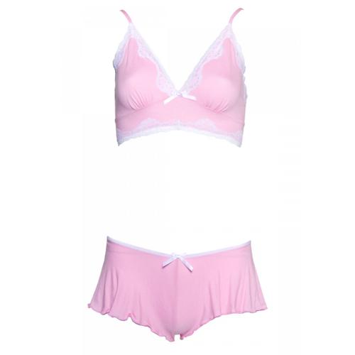 Comfortabel BH setje - roze