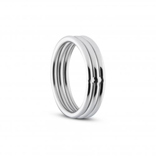 Cock and Ball Ring Zilver – Sinner Gear