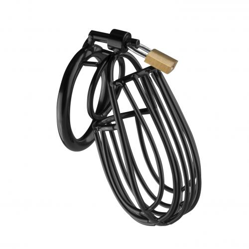 Metalen Peniskooi Met Hangslot - Zwart