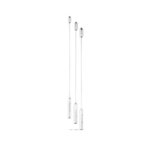 Dilator Set Met Ronde Top – Medium – 3 Stuks Zilver – Sinner Gear