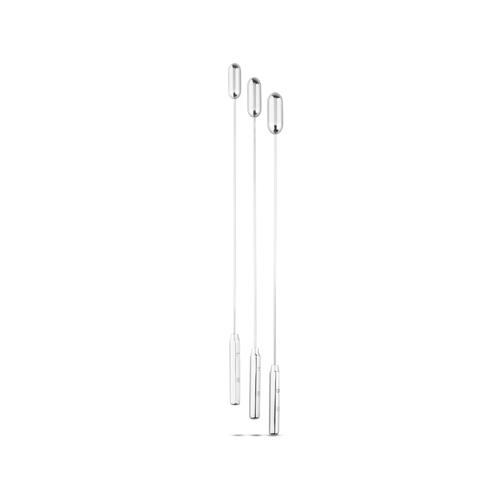 Dilator Set Met Ronde Top – Groot – 3 Stuks Zilver – Sinner Gear
