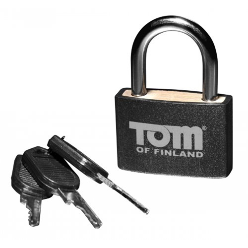 Tom of Finland – Metalen lichtgewicht hangslot – Zwart/Zilver Zilver – Tom of Finland