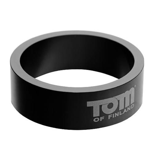 Tom of Finland – Aluminium cockring 60 mm – Zwart Zwart – Tom of Finland