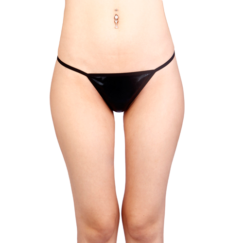 Vixson Basic Wetlook G-string – Zwart Zwart – Vixson