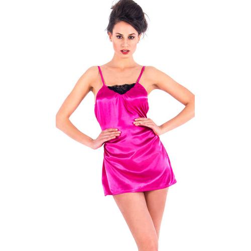 Vixson Satijnen Nachtjurkje – Roze Roze – Vixson