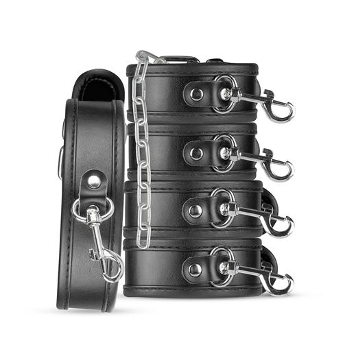 Bruno Beginners Bondage Set – Zwart Zwart – Whipped