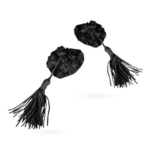 Rose Garden Tepelstickers - Zwart