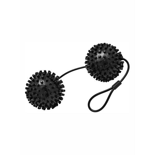XL Noppen Stimulatie Ballen - Zwart