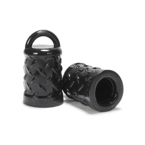 Zwarte Tepelzuigers met handvatten Zwart – Oxballs