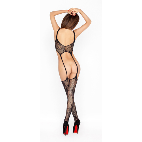 Zwarte bodystocking - top en kousen