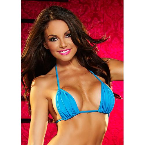 Sexy Triangel Bikini Top - Blauw