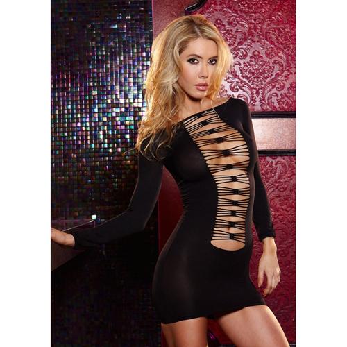 Sexy open jurkje - Zwart
