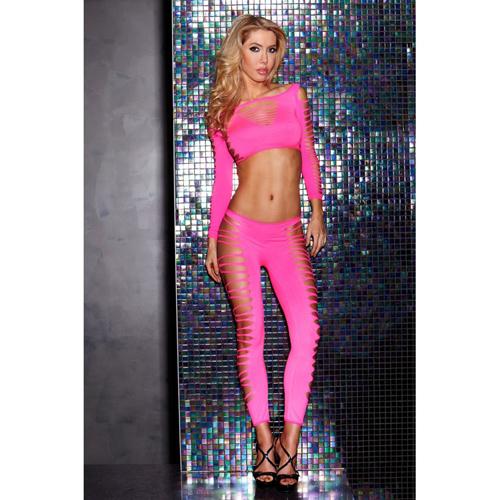 Roze Top en Legging Set