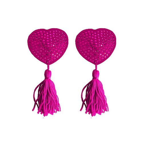 Tepel Kwastjes Hartvorm - Roze