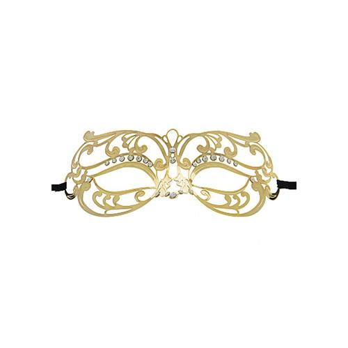 Sierlijk gouden oogmasker