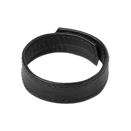 Cockring met klittenband – Zwart Zwart – Strict Leather