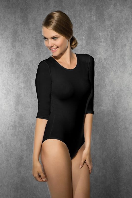 Afbeelding van Bodysuits Doreanse Body 3/4 Mouwen Zwart Large