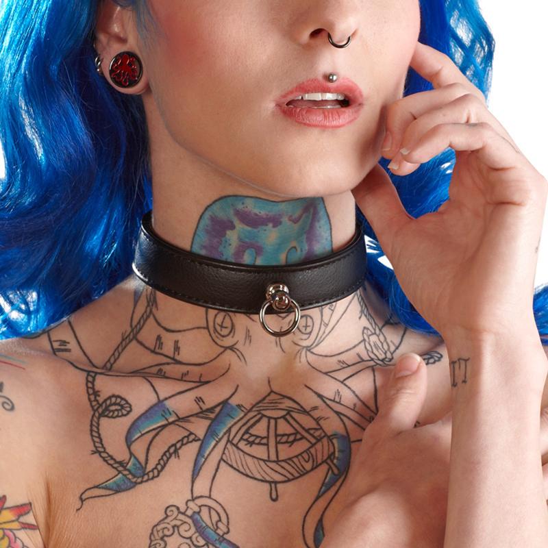 Afbeelding van Zwarte Halsband Zwart van Bad Kitty one size