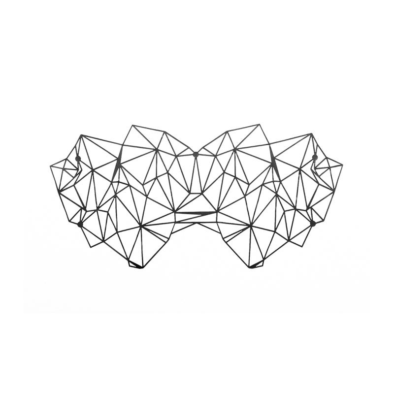 Afbeelding van Zwarte Kristine Oogmasker van Bijoux Indiscrets one size