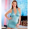 Turquoise mini jurk