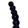 bolvormige_glazen_dildo_icicles_no_66_zwart