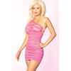 Pittig Gestreept mini jurkje - Pink