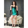 Jade Chemise And G-String - Black/Green