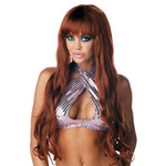 Extra Long Brown Synthetic Wig