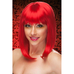 Red Soft Waves Long Wig