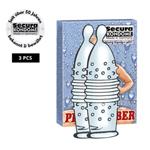 Secura Pearl rubber Condooms - 3 stuks