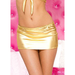 Metallic Mini Rok - Goud