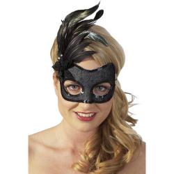 Zwart Veren Masker