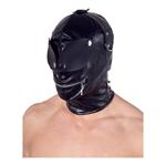 Kunstleren masker - zwart