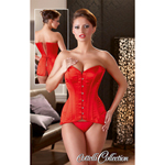 Corset red with 8 bones