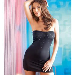 Black tube mini dress