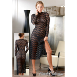 Lange doorzichtige jurk
