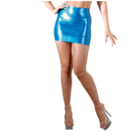 Latex-Minirok Blauw