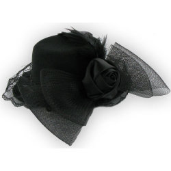 Mini Hat with Rose Bow