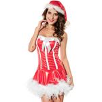 Sexy Strapless Santa Girl