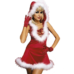 3-delig Kerstjurkje - Elegant Santa Lady