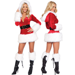 3-delige Miss Santa Outfit White