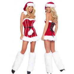 3-delig Kerstjurkje - Naughty Santa Girl