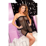 String back fishnet mini dress