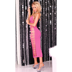 Big Spender seamless long dress Pink