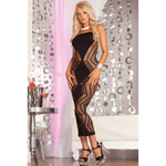 Zig-zag-zig seamless dress Black