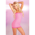 Super stripes tube dress pink
