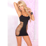 Seamless side-slash mini dress