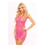 Roze jurk look...