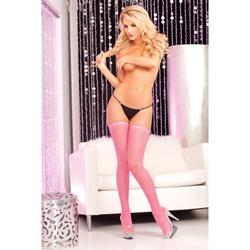 Pink fishnet thigh...